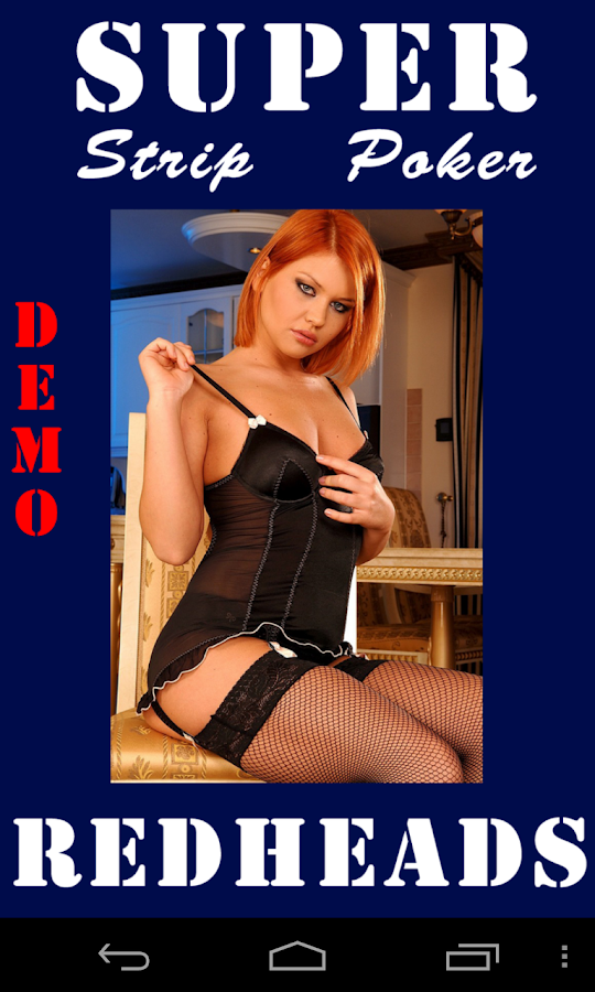 Super Strip Poker Redhead Demo - screenshot