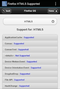HTML5 Supported for Firefox - screenshot thumbnail