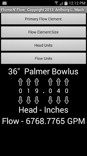 Flume Flow Calculator