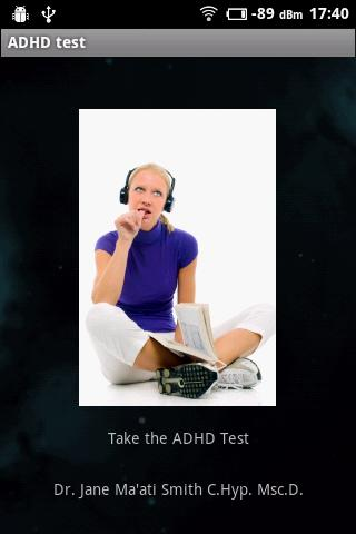 ADHD Self Test- screenshot