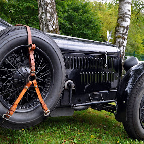Black Alvis by Marco Bertamé - Transportation Automobiles ( car, olrtimer, sportscar, vintage, great britain, black, luxembourg,  )