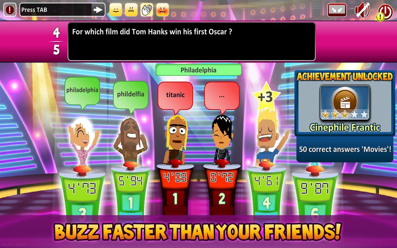Superbuzzer Trivia Quiz Game - screenshot