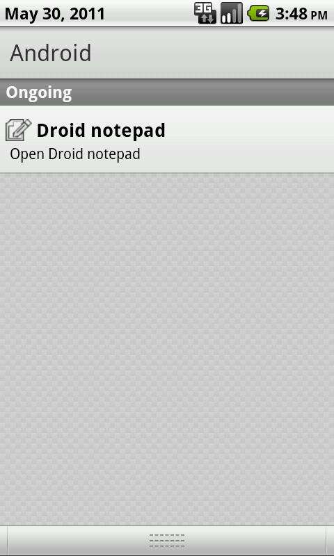 Droid Notepad- screenshot