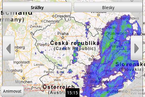 Aladin - předpověď počasí – snímek obrazovky