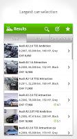 Screenshot of Car Market Switzerland