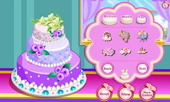Screenshot of Rose Wedding Cake Game