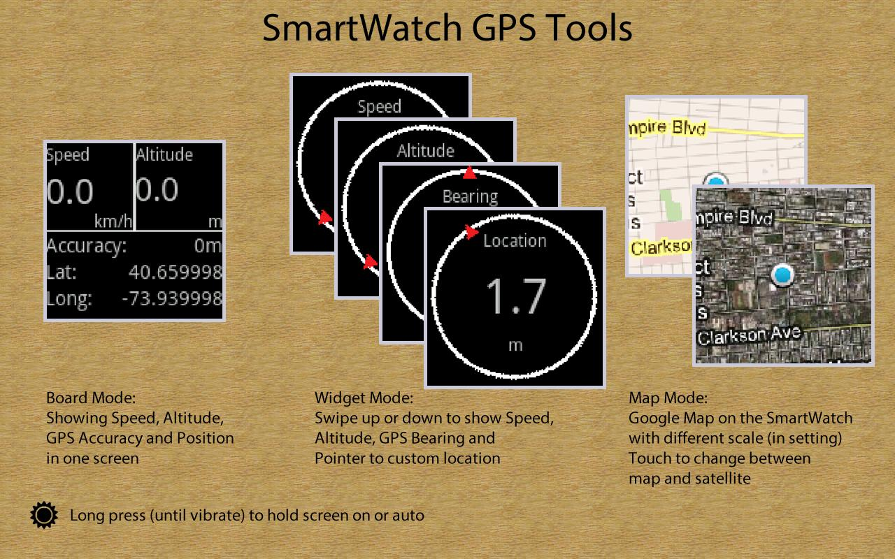 SmartWatch GPS Tools - screenshot