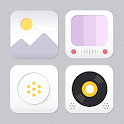 Flat White Atom Iconpack icon
