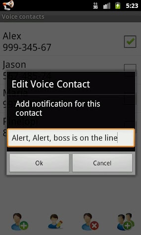Voice Caller ID + SMS Pro Screenshot