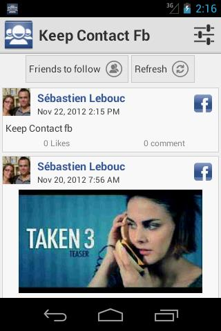Keep Contact fb - screenshot