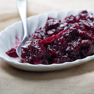 Cabernet-Cranberry Sauce with Figs.