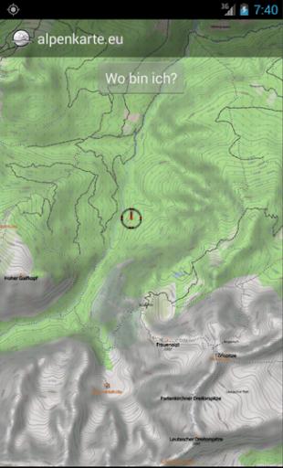 FLEIMSTALER Gebirgskarte