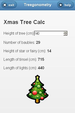 Treegonometry Xmas Tree Calc