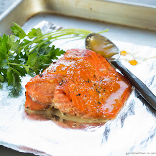 Apricot Horseradish Salmon