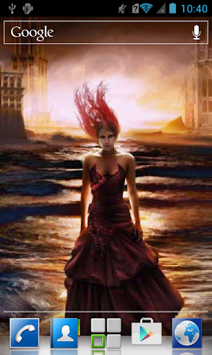 Girl in a flooded city LWP