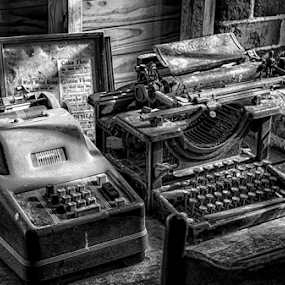 Ready to Type by RomanDA Photography - Artistic Objects Business Objects ( old, typewriter, bw, machine, adding )