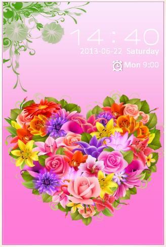 FLOWER'S LOVE S4 LOCKSCREEN