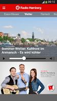 Screenshot of Radio Hamburg