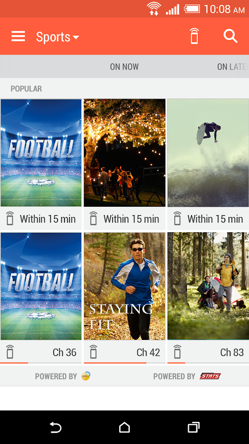 HTC Sense TV - screenshot