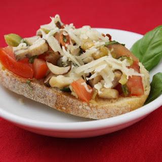 Mushroom and Parmigiano Bruschetta.