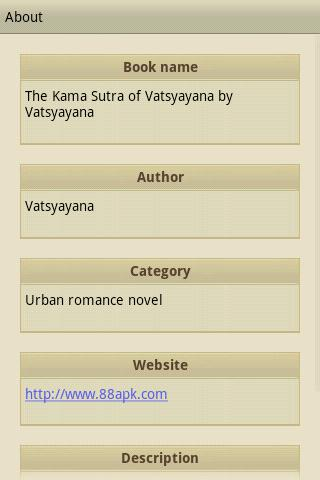 The Kama Sutra of Vatsyayana - screenshot