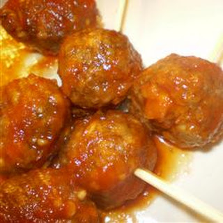 Easy Beer and Ketchup Meatballs.