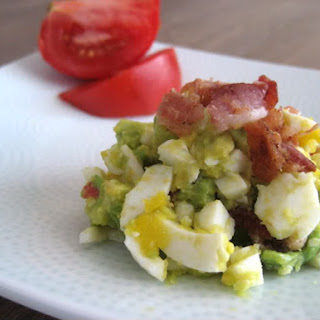 Bacon, Egg, Avocado and Tomato Salad.