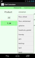 Screenshot of Kitchen Cooking Calculator