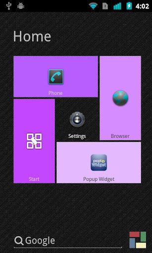 Purple theme for SquareHome