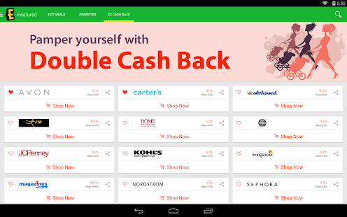 Ebates Cash Back & Coupons - screenshot thumbnail