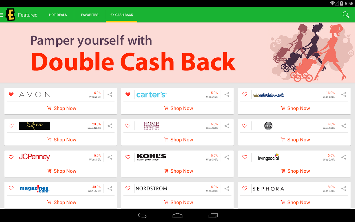 Ebates Cash Back amp; Coupons  Android Apps on Google Play