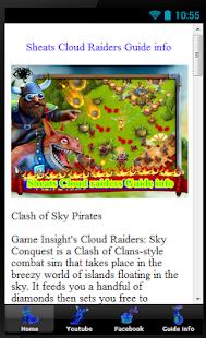 Sheat Cloud raiders Guide info