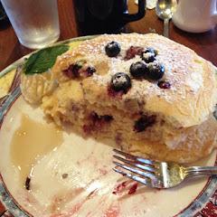 Amazing blueberry gluten free pancakes!