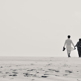 Together  by Sharier Shuvho - People Couples ( love, sand, cuteness, bangladesh, sunset, sea, cox's bazar, couple, bride and groom )