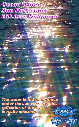 Ocean Water Sun Reflections 3D