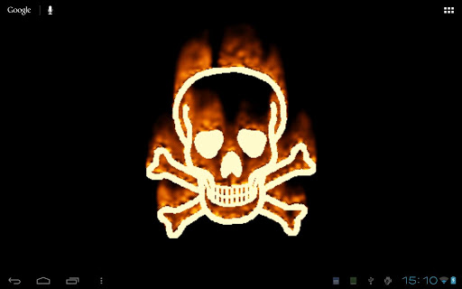 【免費個人化App】Burning Skull Wallpaper-APP點子