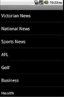 Screenshot of Australian News