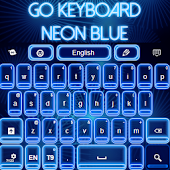 GO Keyboard Neon Blue
