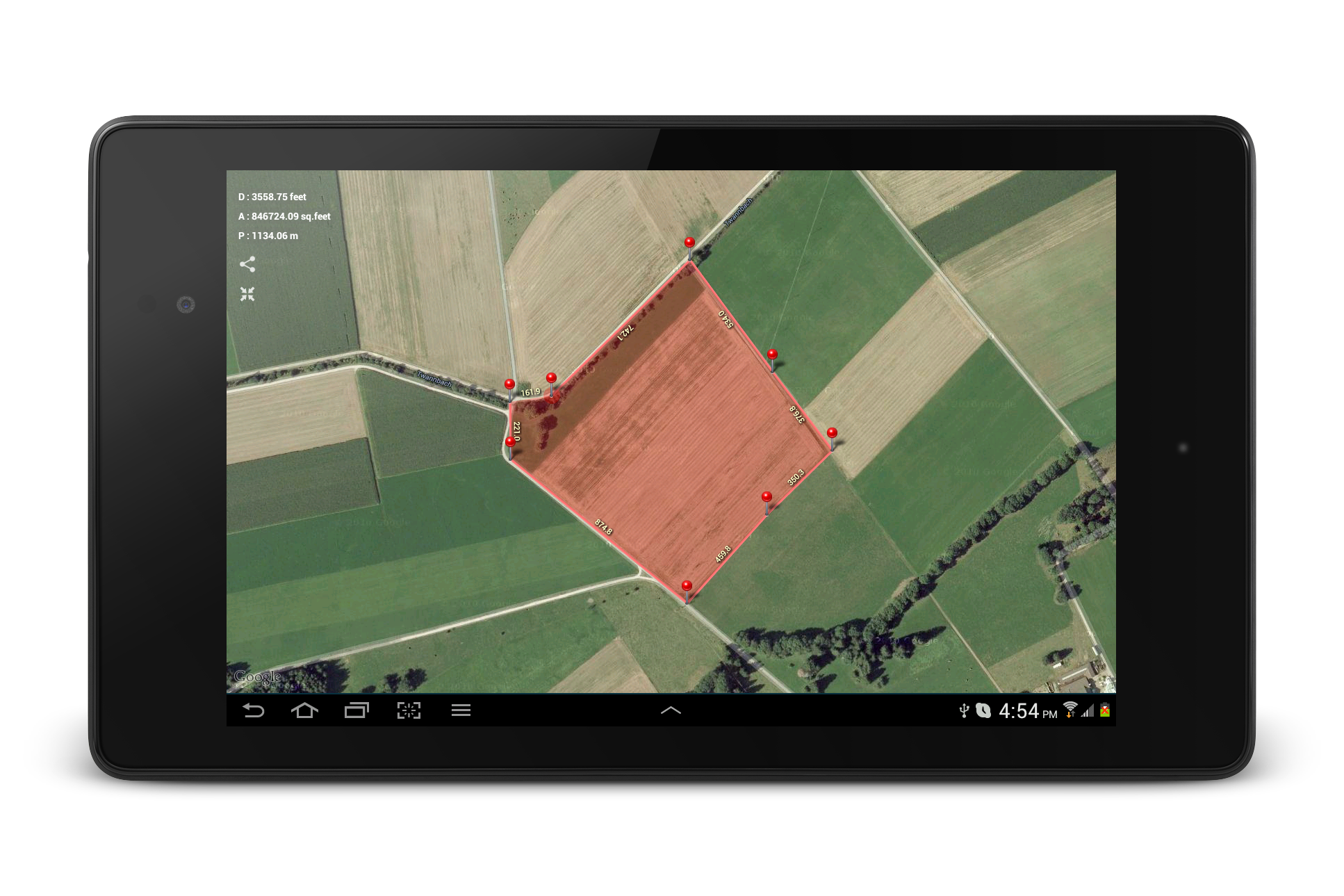 Planimeter - GPS area measure screenshot #22
