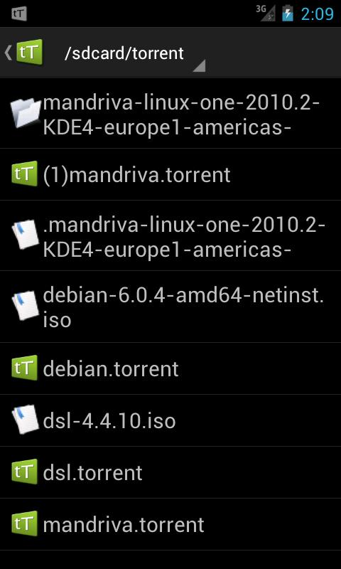 tTorrent - Torrent Client App - screenshot