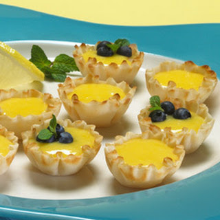 Lemon Curd Tartlets With Fresh Berries.
