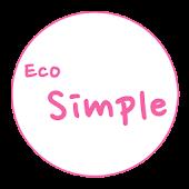 카카오톡 테마 - Eco Simple Pink