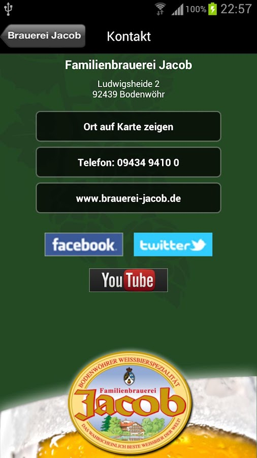 Familienbrauerei Jacob- screenshot