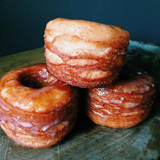 Buttermilk-Vanilla Glazed Croissant Donuts.