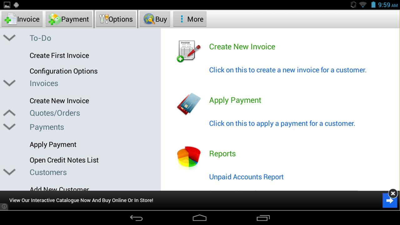 Express Invoice Invoicing Free – Screenshot