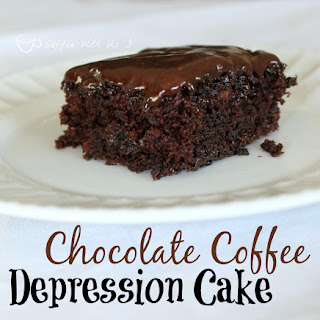 Chocolate Coffee Depression Cake