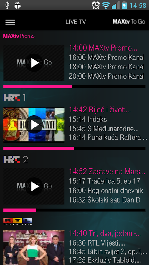 MAXtv To Go- screenshot