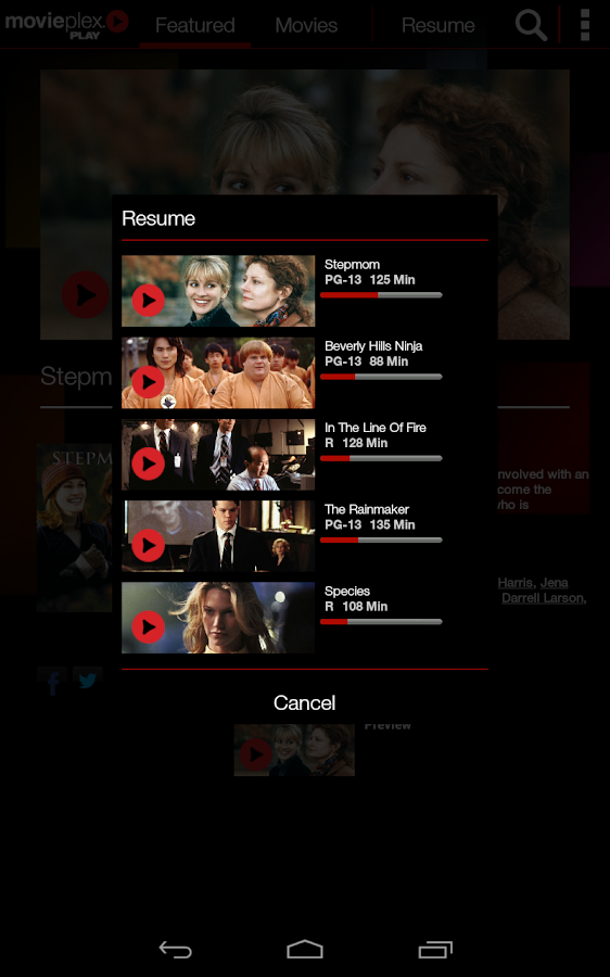 MOVIEPLEX Play - screenshot