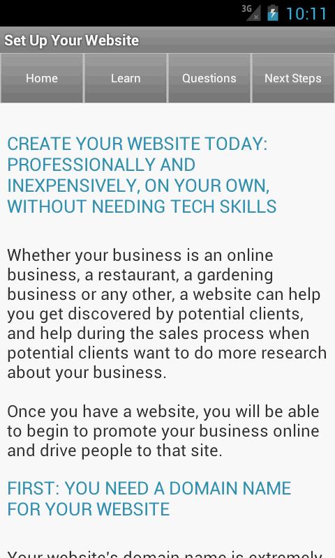 Entrepreneur Business Ideas Screenshot