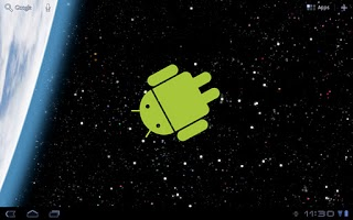 Screenshot of Droid in Space Live Wallpaper